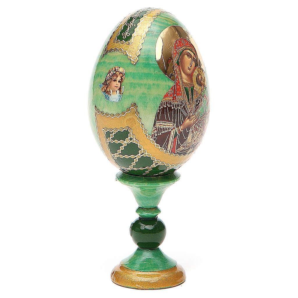 Jajko ikona rosyjska decoupage Pasyjna wys. całk. 13 cm styl Faberge' 4