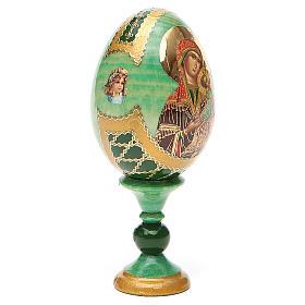 Ovo ícone russo découpage Perpétuo Socorro h tot. 13 cm estilo Fabergé s12
