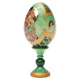 Ovo ícone russo découpage Perpétuo Socorro h tot. 13 cm estilo Fabergé s2