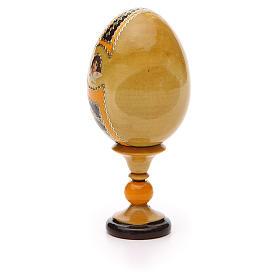 Uovo legno découpage Russia Kozelshanskaya h tot. 13 cm stile Fabergé s7