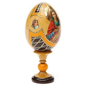Uovo legno découpage Russia Kozelshanskaya h tot. 13 cm stile Fabergé s12