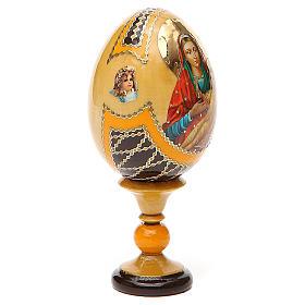 Uovo legno découpage Russia Kozelshanskaya h tot. 13 cm stile Fabergé s4