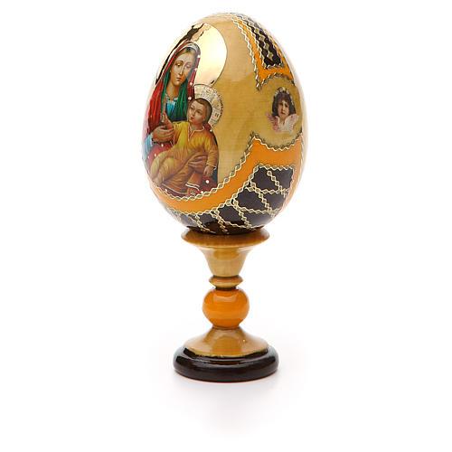 Uovo legno découpage Russia Kozelshanskaya h tot. 13 cm stile Fabergé 6