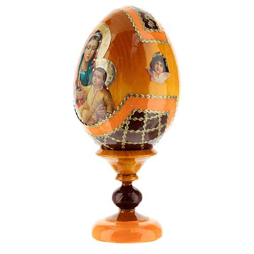 Uovo legno découpage Russia Kozelshanskaya h tot. 13 cm stile Fabergé 3
