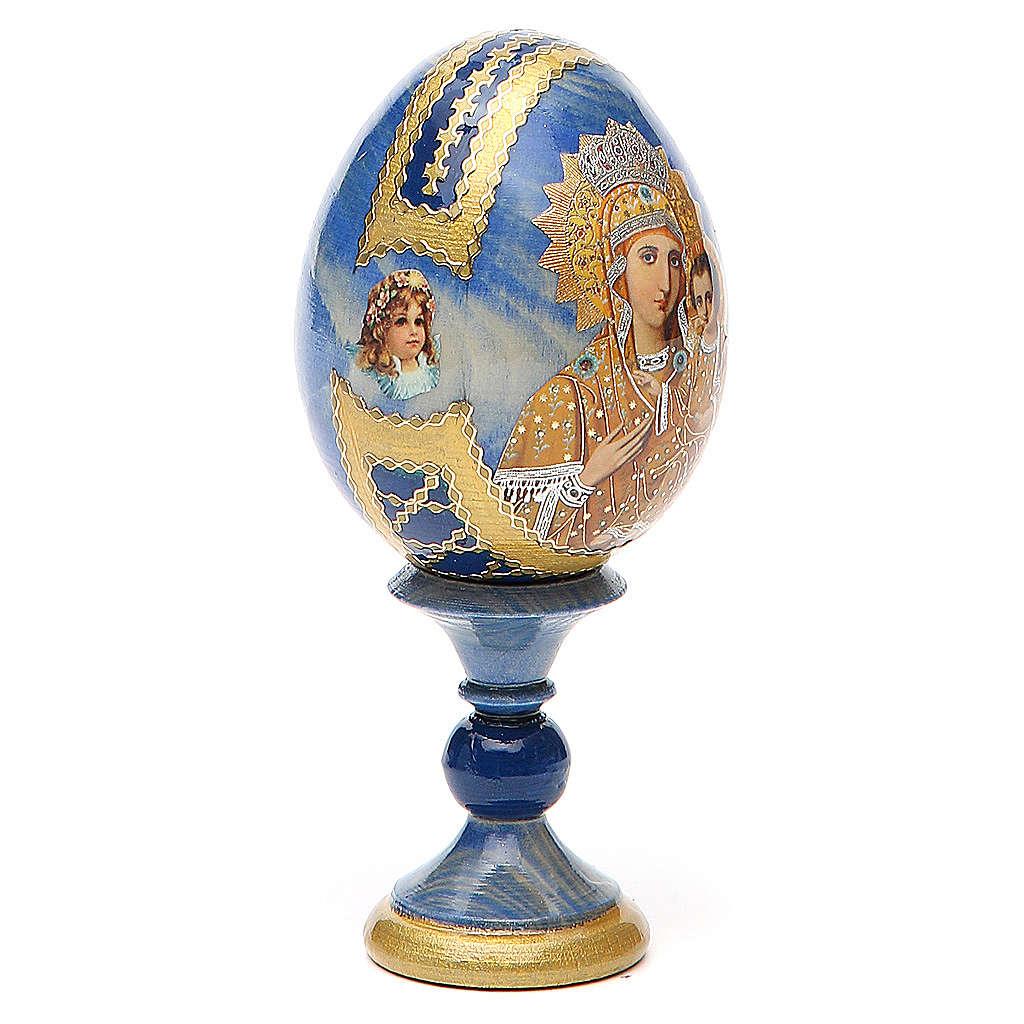 Oeuf bois découpage Russie Prémonitoire h 13 cm style Fabergé 4