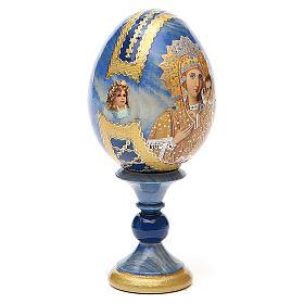Oeuf bois découpage Russie Prémonitoire h 13 cm style Fabergé s4