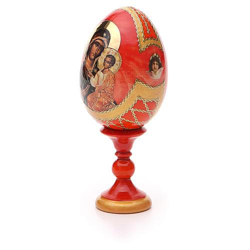 Oeuf bois découpage Russie Iverskaya h 13 cm style Fabergé 6