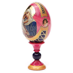 Russian Egg Protectrice of the Fallen Fabergè style 13cm s10