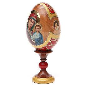 Huevo ruso de madera découpage Kazanskaya altura total 13 cm estilo Fabergé s2
