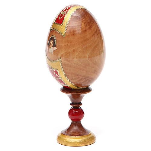 Huevo ruso de madera découpage Kazanskaya altura total 13 cm estilo Fabergé 11