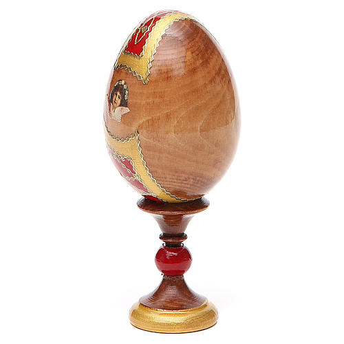 Huevo ruso de madera découpage Kazanskaya altura total 13 cm estilo Fabergé 3