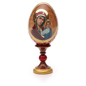 Uovo russo découpage Kazanskaya h tot. 13 cm stile Fabergé s5