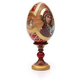 Uovo russo découpage Kazanskaya h tot. 13 cm stile Fabergé s8