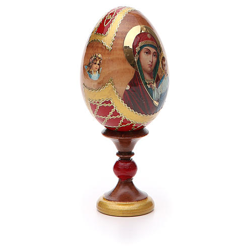 Uovo russo découpage Kazanskaya h tot. 13 cm stile Fabergé 8