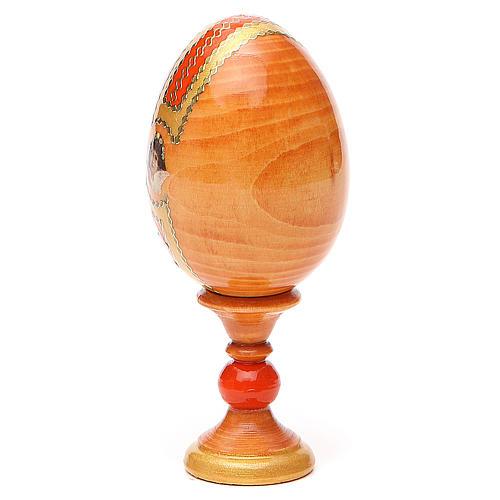Oeuf russe découpage Saint Nicolas h 13 cm style Fabergé 3