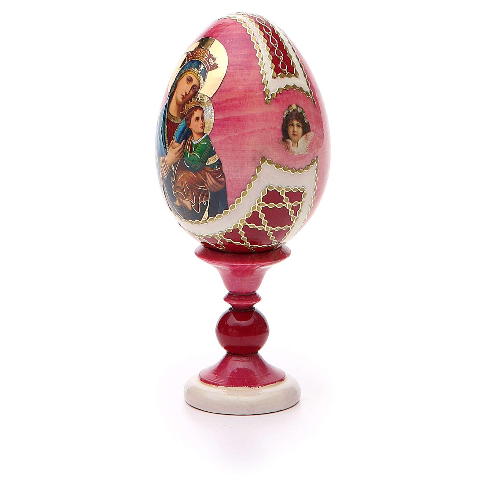 Oeuf russe découpage Perpétuel Secours h 13 cm style Fabergé 4