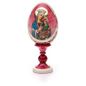 Oeuf russe découpage Perpétuel Secours h 13 cm style Fabergé s5