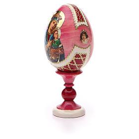 Oeuf russe découpage Perpétuel Secours h 13 cm style Fabergé s6