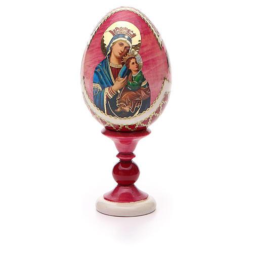 Oeuf russe découpage Perpétuel Secours h 13 cm style Fabergé 5