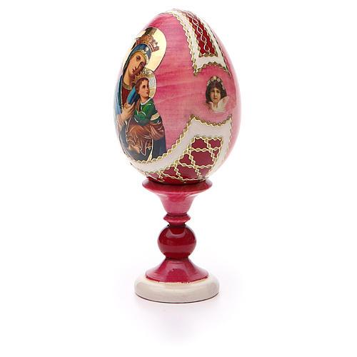 Oeuf russe découpage Perpétuel Secours h 13 cm style Fabergé 6