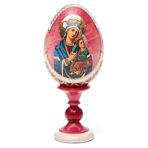 Oeuf russe découpage Perpétuel Secours h 13 cm style Fabergé 9