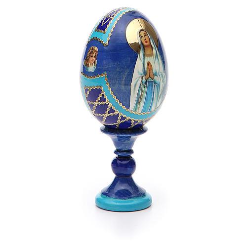 Uovo russo découpage Madonna di Lourdes h tot. 13 cm stile Fabergé 8