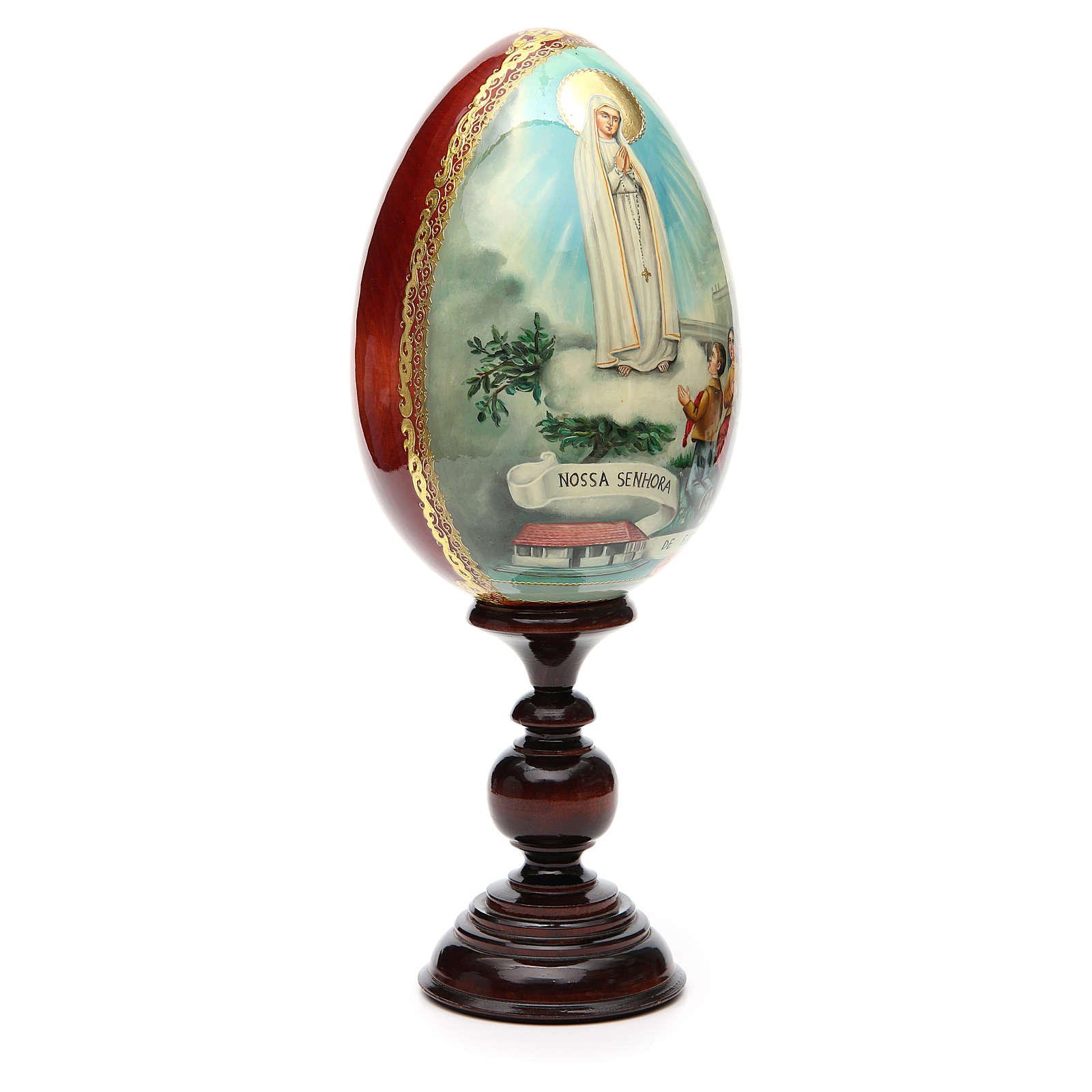 Russian Egg HAND PAINTED Fátima 36cm 4