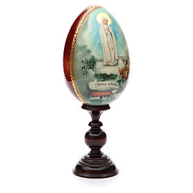 Russian Egg HAND PAINTED Fátima 36cm s4