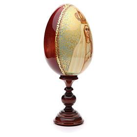 Huevo ruso de madera PINTADO A MANO Fatima altura total 30 cm s4
