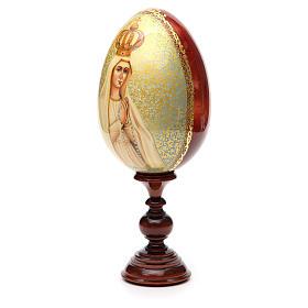 Huevo ruso de madera PINTADO A MANO Fatima altura total 30 cm s6