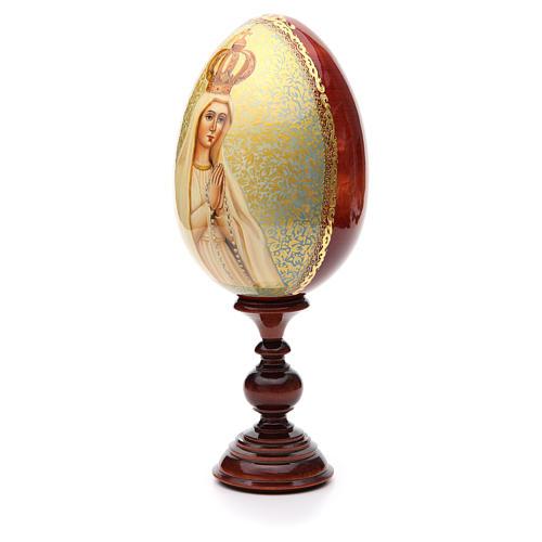 Huevo ruso de madera PINTADO A MANO Fatima altura total 30 cm 2
