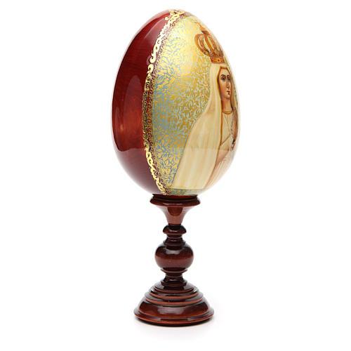 Huevo ruso de madera PINTADO A MANO Fatima altura total 30 cm 8