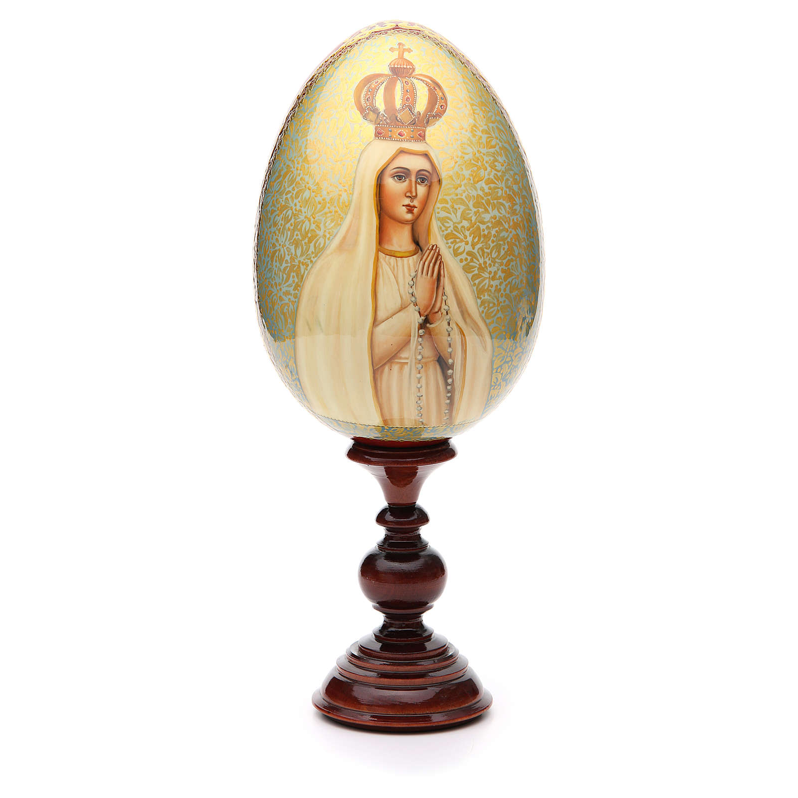Russian Egg HAND PAINTED Our Lady of Fátima 36cm 4