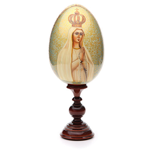 Russian Egg HAND PAINTED Our Lady of Fátima 36cm 1