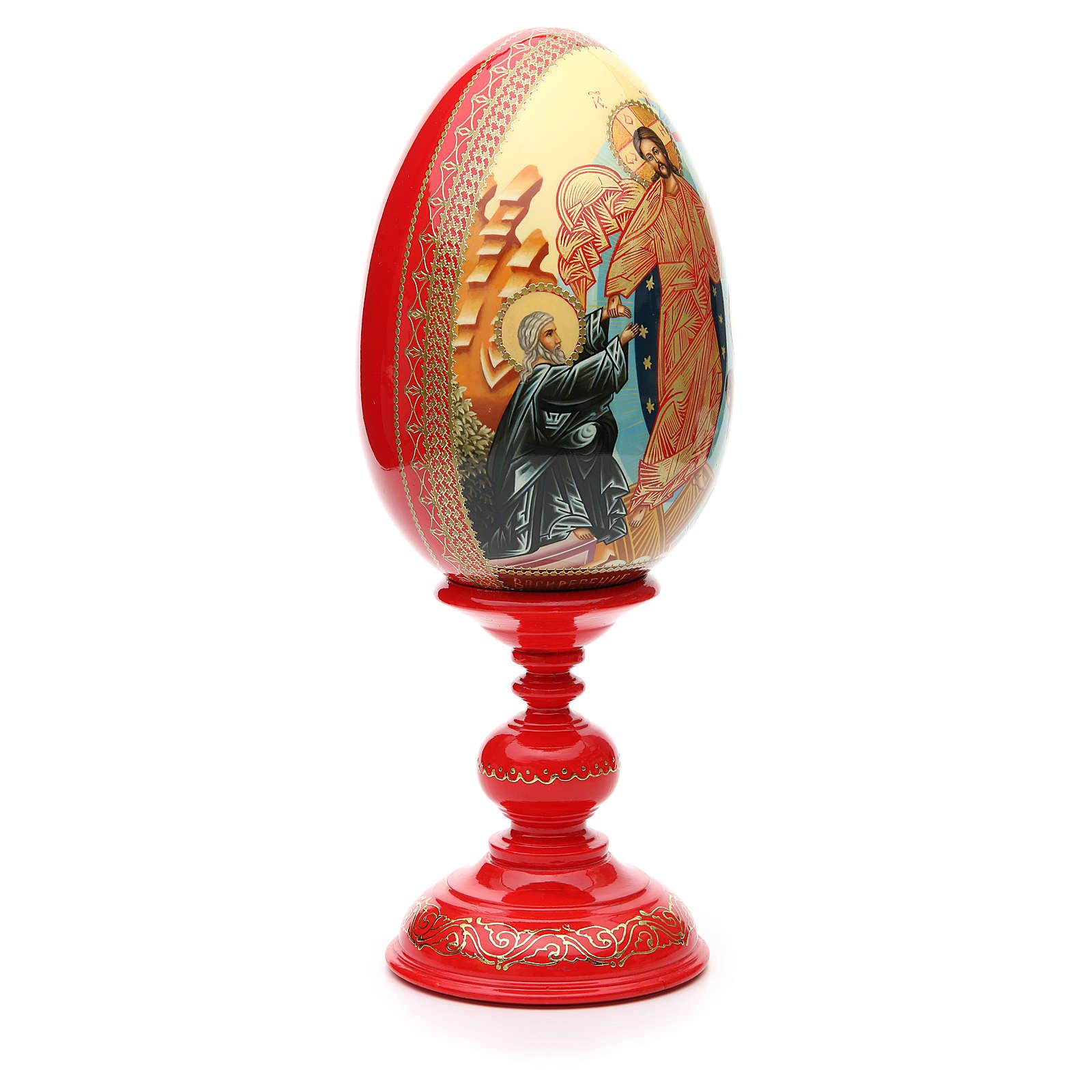 Oeuf russe PEINT À LA MAIN Résurrection h 36 cm 4