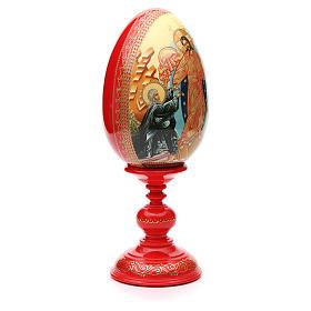 Oeuf russe PEINT À LA MAIN Résurrection h 36 cm s4