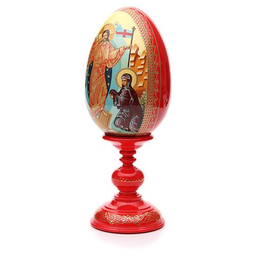 Oeuf russe PEINT À LA MAIN Résurrection h 36 cm 2