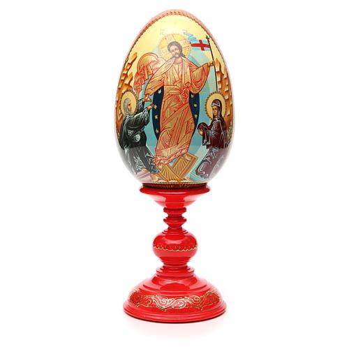 Oeuf russe PEINT À LA MAIN Résurrection h 36 cm 5