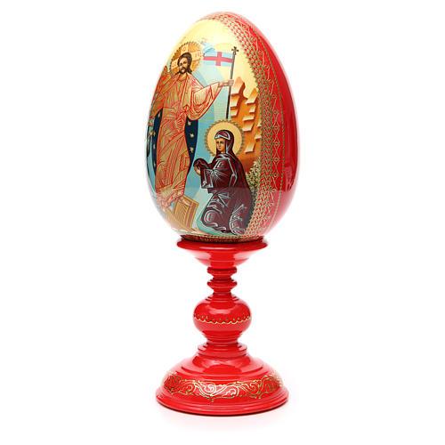 Oeuf russe PEINT À LA MAIN Résurrection h 36 cm 6