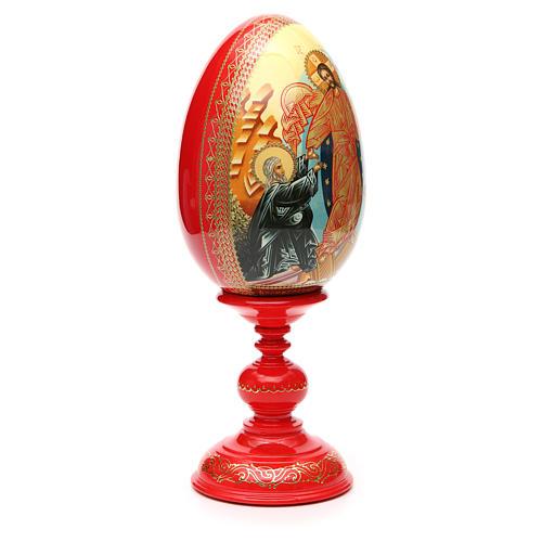 Oeuf russe PEINT À LA MAIN Résurrection h 36 cm 8