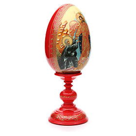 Russian Egg HAND PAINTED Resurrection 36cm s4