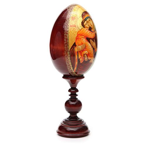 Russian Egg HAND PAINTED Vladimirskaya 36cm 8
