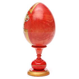 Uovo legno découpage russa Pantocratore tot h 20 cm stile Fabergè s7