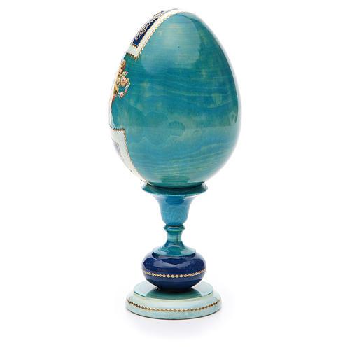 Oeuf bois découpage russe Kazanskaya h 20 cm style Fabergé 3