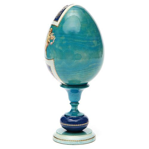 Uovo legno découpage russa Kazanskaya tot h 20 cm stile Fabergè 7