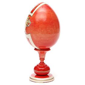 Uovo legno découpage russa Giglio Bianco tot h 20 cm stile Fabergè s11