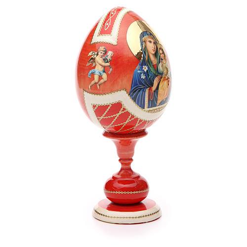 Uovo legno découpage russa Giglio Bianco tot h 20 cm stile Fabergè 8