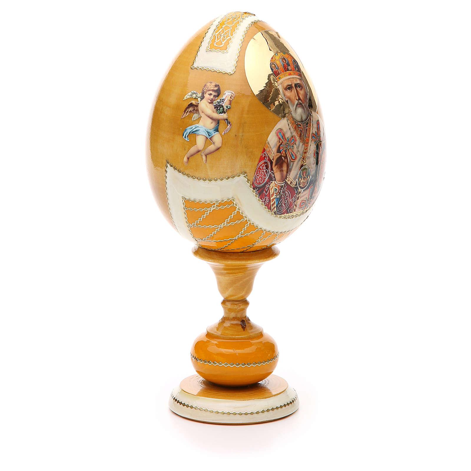 Russian Egg White Lily découpage, Fabergè style 20cm 4