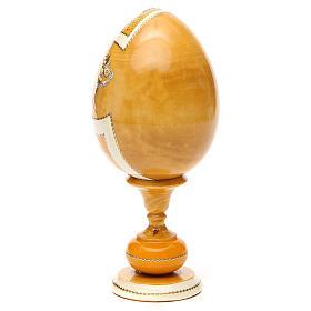 Uovo découpage russa San Nicola tot h 20 cm stile Fabergè s3