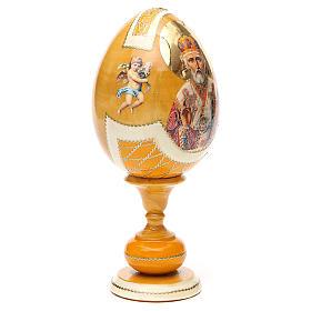 Uovo découpage russa San Nicola tot h 20 cm stile Fabergè s4